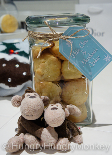 Monkey and Baby Monkey with their Christmas treats